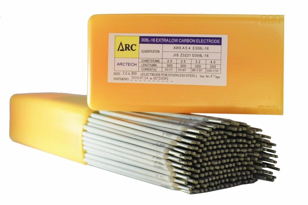 ลวดเชื่อมสเตนเลส Arctech 308/308L Extra ; AWS: A5.4 E308/E308L – 16