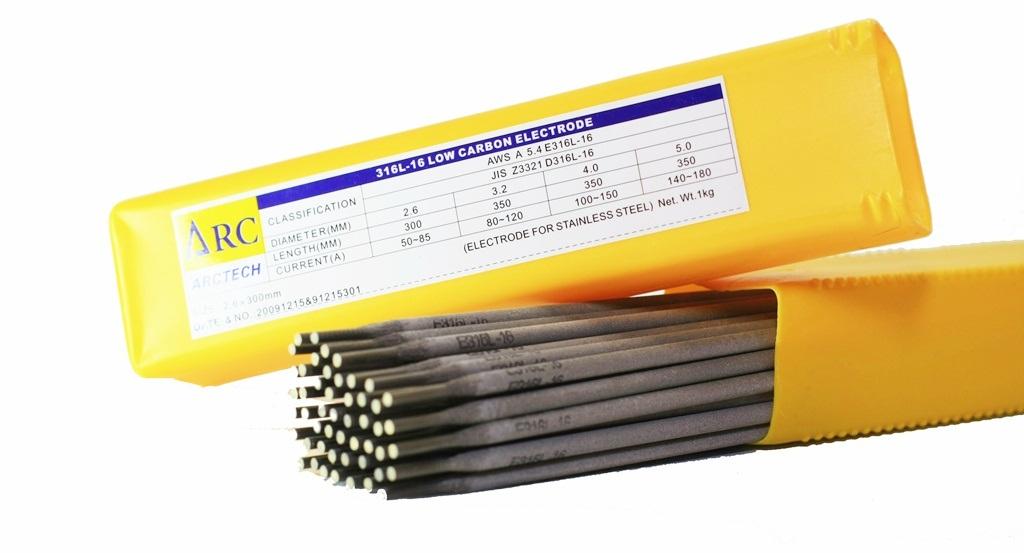 ลวดเชื่อมสเตนเลส Arctech 316L ; AWS: A5.4 E316L-16