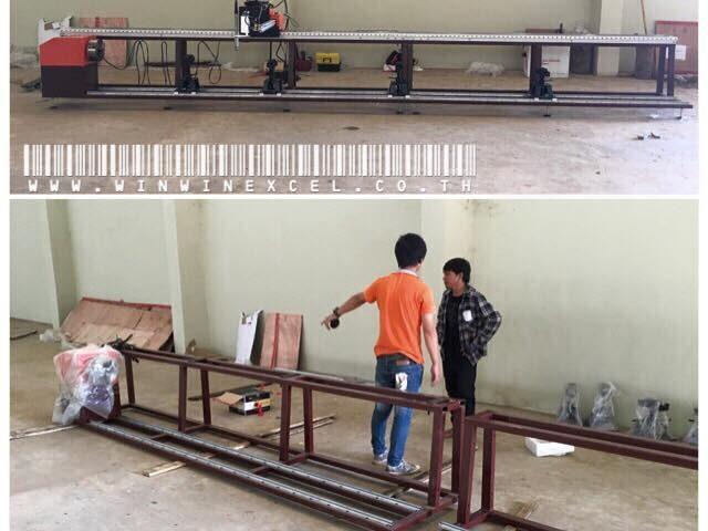 ส่งเครื่องตัดท่อ cnc และเครื่องตัดพลาสม่า ที่ประเทศ กัมพูชา